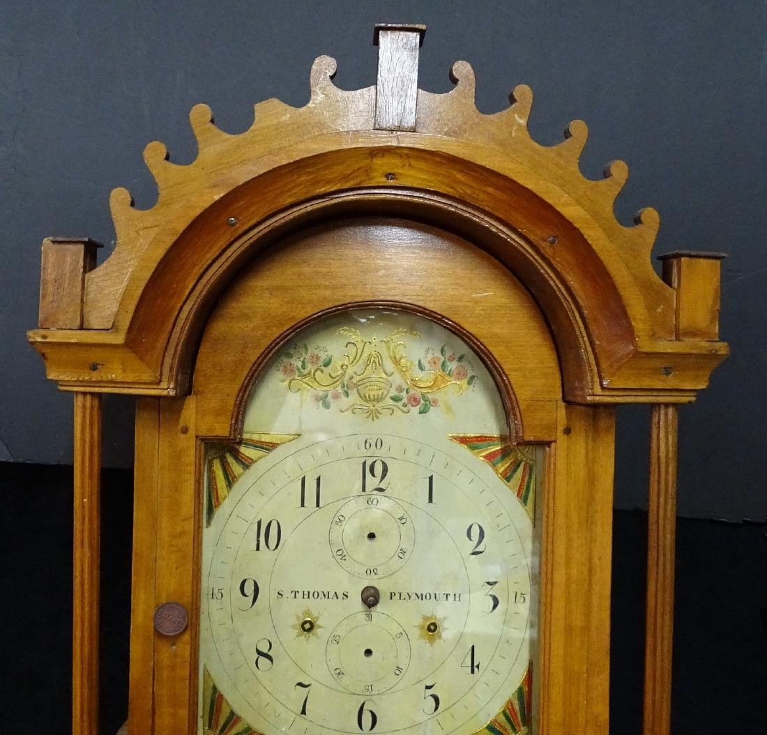 "S. THOMAS ""PLYMOUTH"" TALL CASE CLOCK - 2"