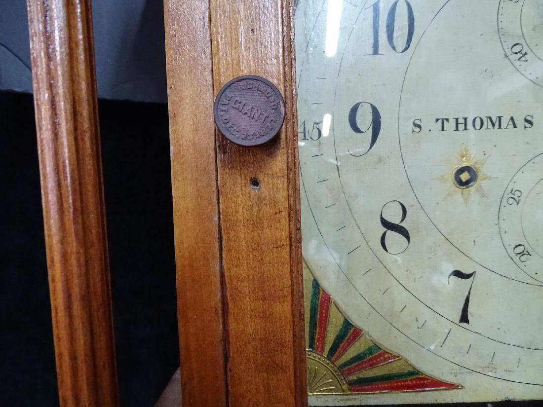 "S. THOMAS ""PLYMOUTH"" TALL CASE CLOCK - 4"