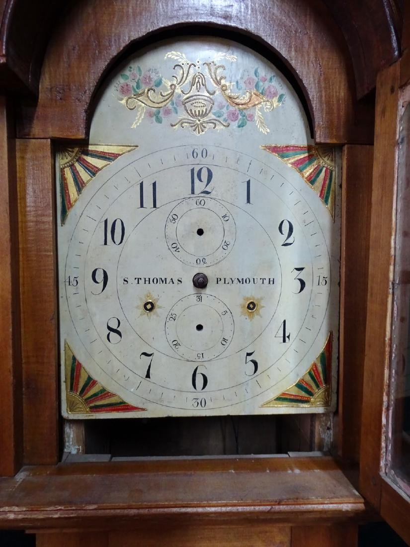"S. THOMAS ""PLYMOUTH"" TALL CASE CLOCK - 5"