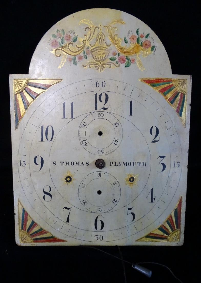 "S. THOMAS ""PLYMOUTH"" TALL CASE CLOCK - 7"