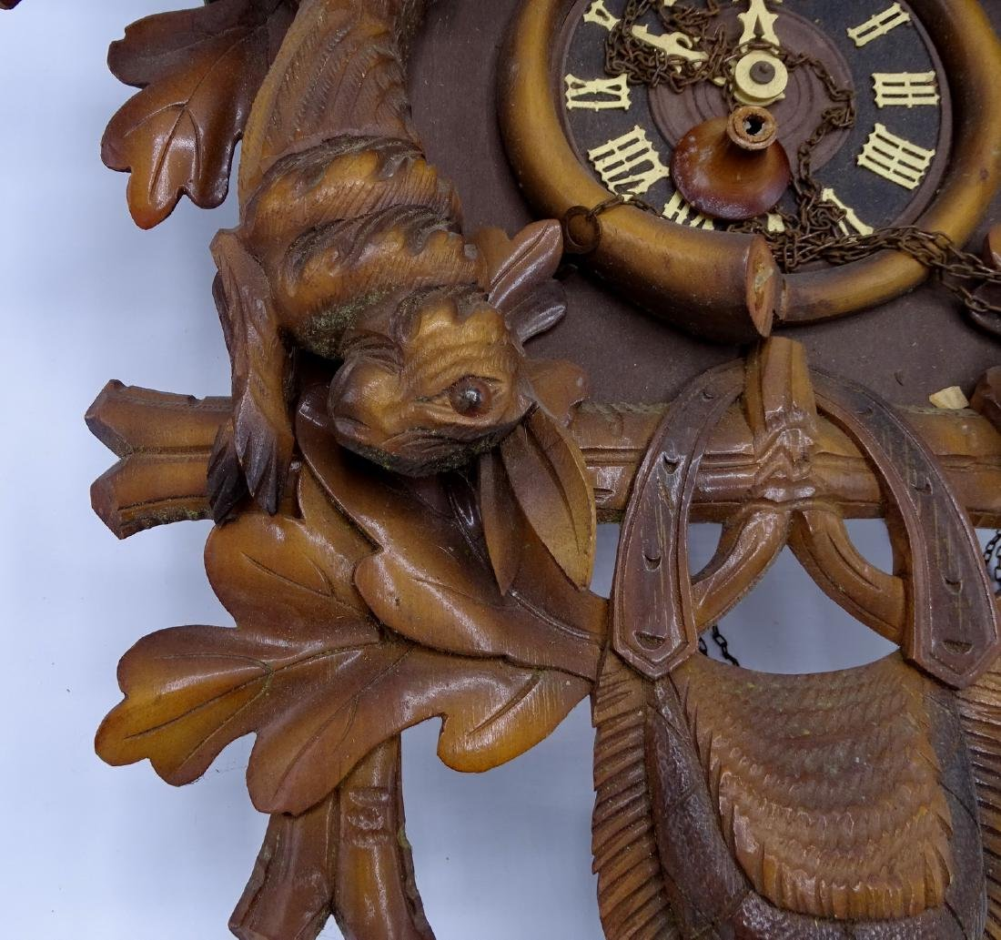 CUCKOO CLOCK WITH GAME MOTIF - 2