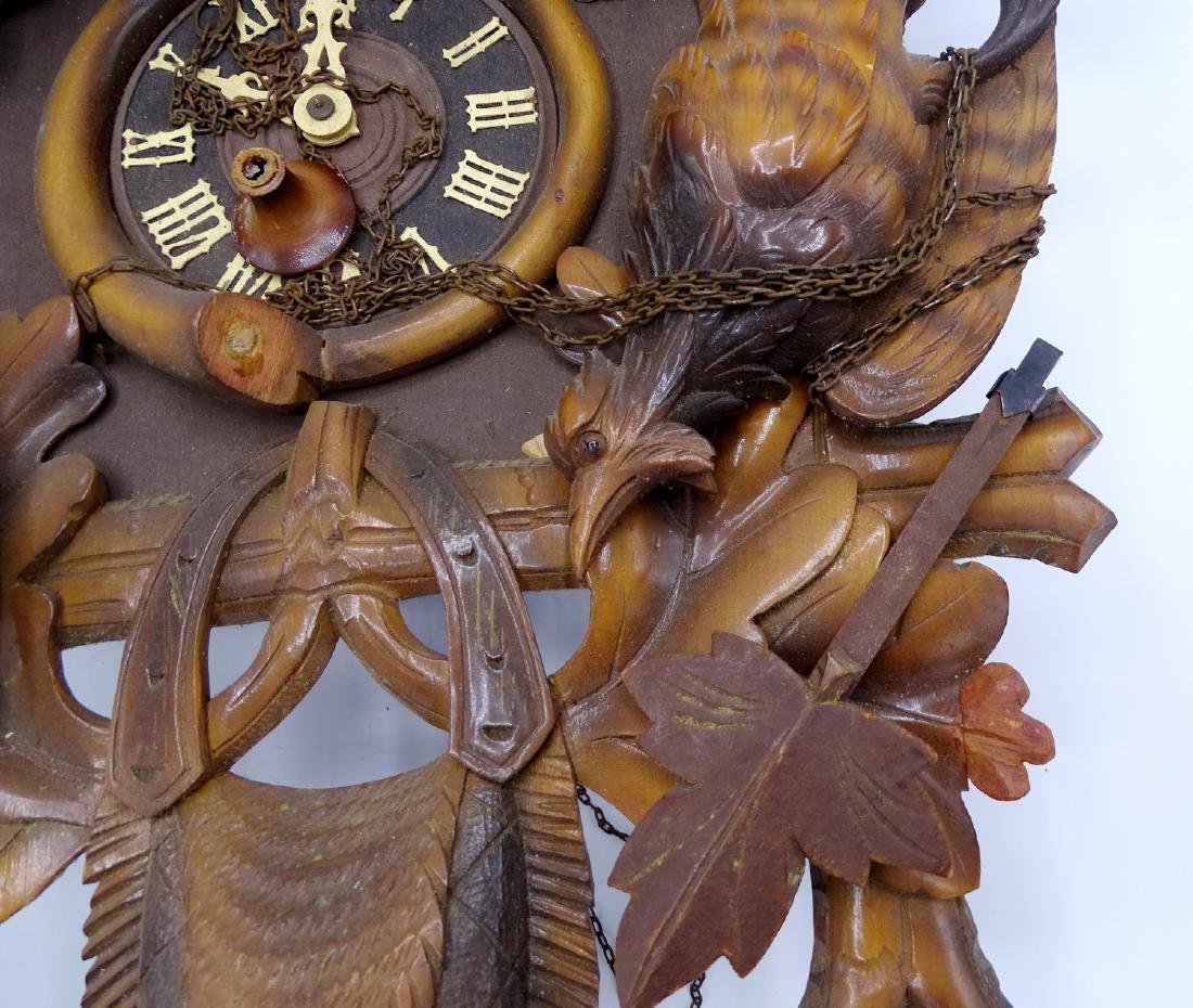 CUCKOO CLOCK WITH GAME MOTIF - 3