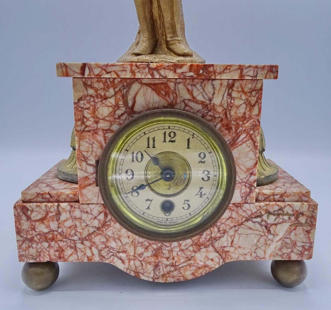 FRENCH FIGURAL MARBLE MANTLE CLOCK - 2