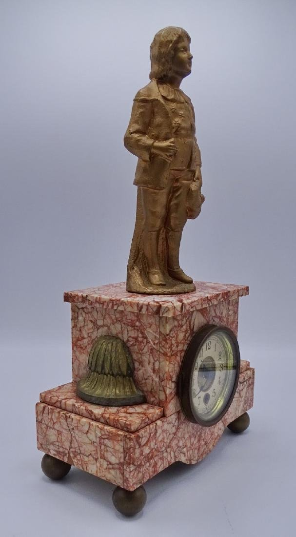 FRENCH FIGURAL MARBLE MANTLE CLOCK - 4