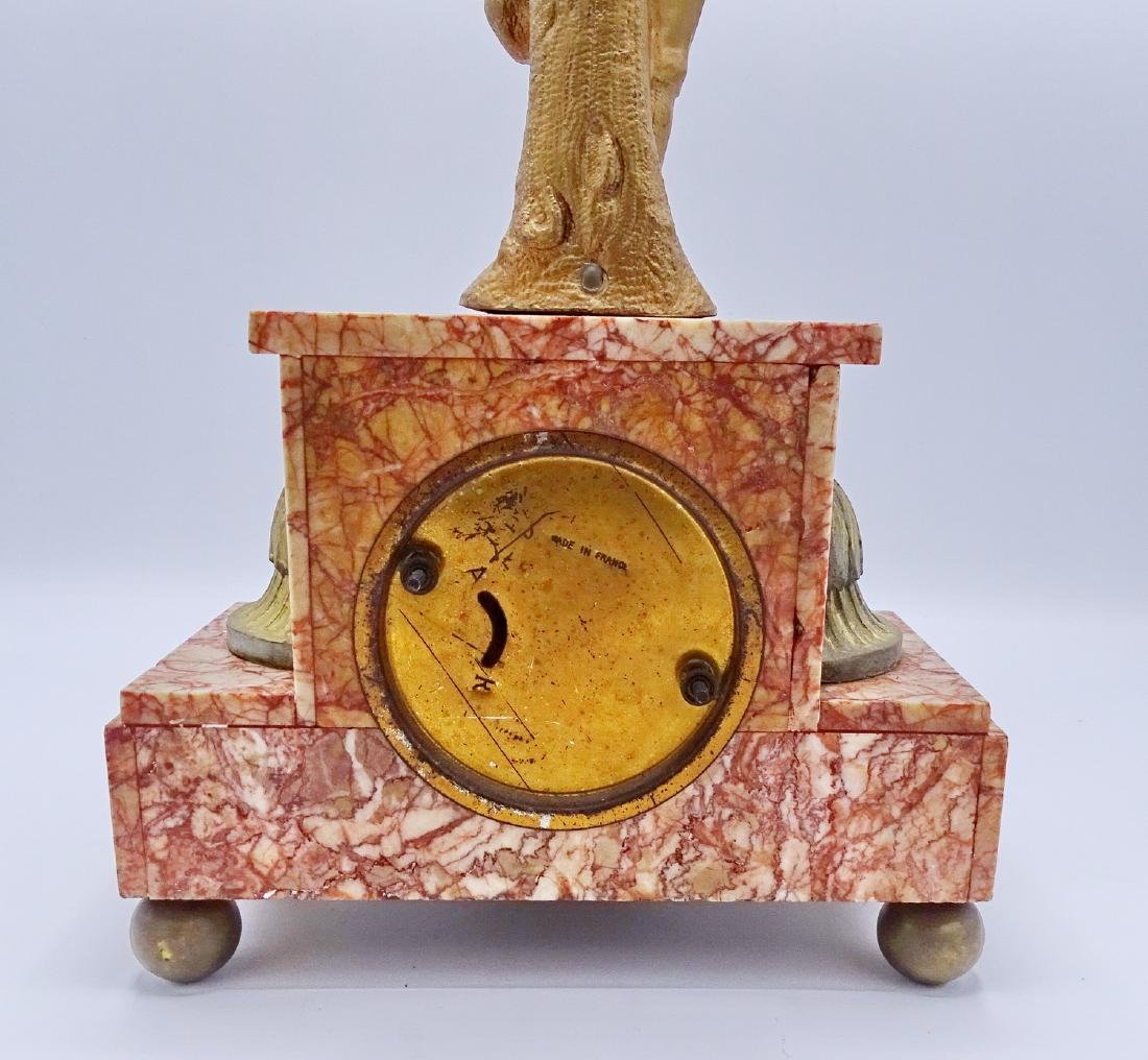 FRENCH FIGURAL MARBLE MANTLE CLOCK - 6