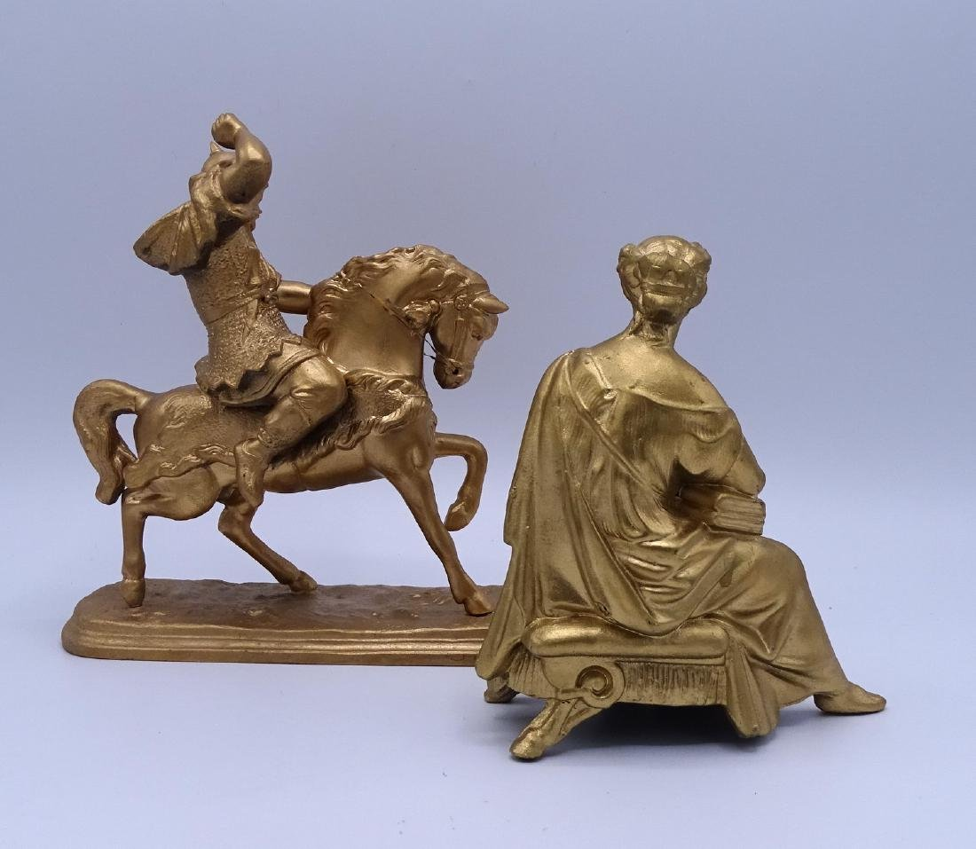 GROUP 4 GILT METAL FIGURAL CLOCK TOPPERS - 6