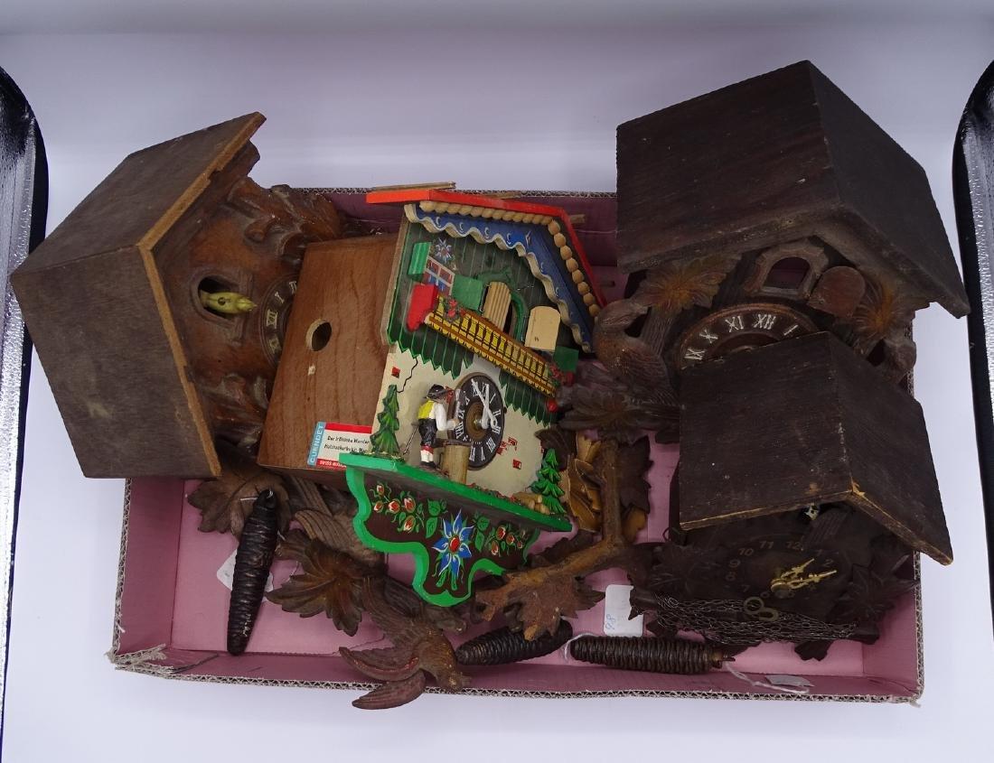 BOX 4 CUCKOO CLOCKS