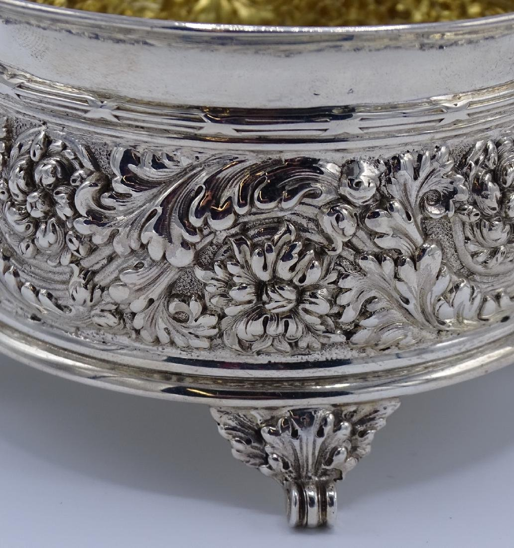 TIFFANY & CO. MAKERS REPOUSSE SUGAR & CREAMER APPRX. - 2