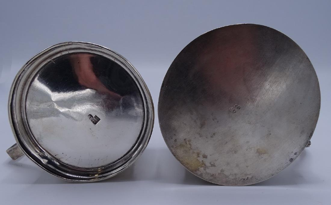 2 RUSSIAN SILVER CUP HOLDERS WITH GLASS LINERS APPRX. - 6