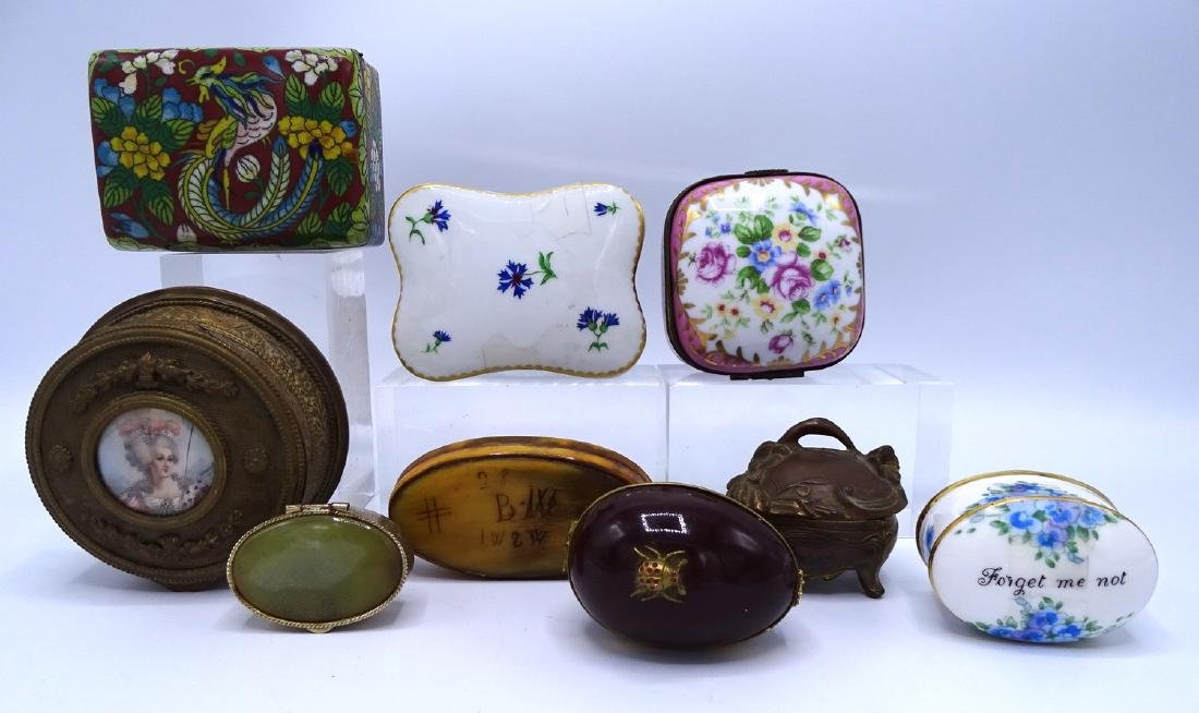 GROUP 9 ASSORTED BOXES INC. CLOISONNE