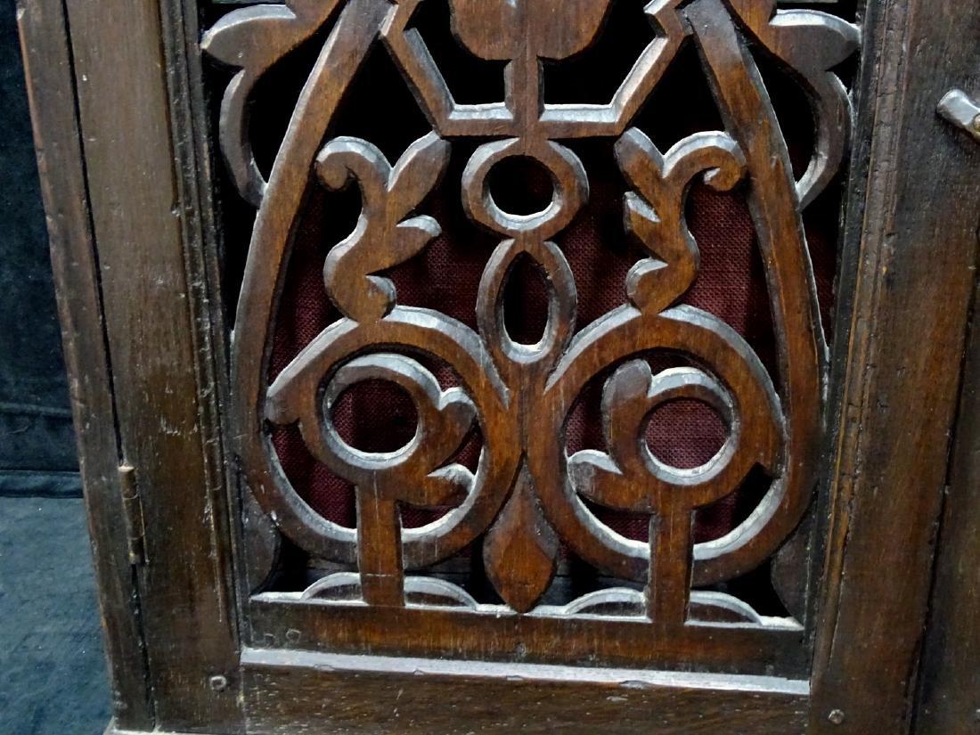 ENGLISH 2 DOOR OAK HANGING CABINET - 2
