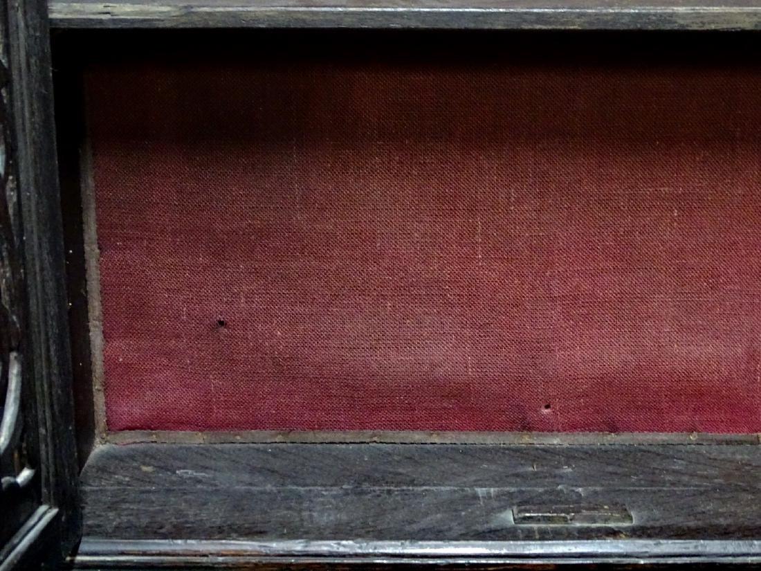 ENGLISH 2 DOOR OAK HANGING CABINET - 4