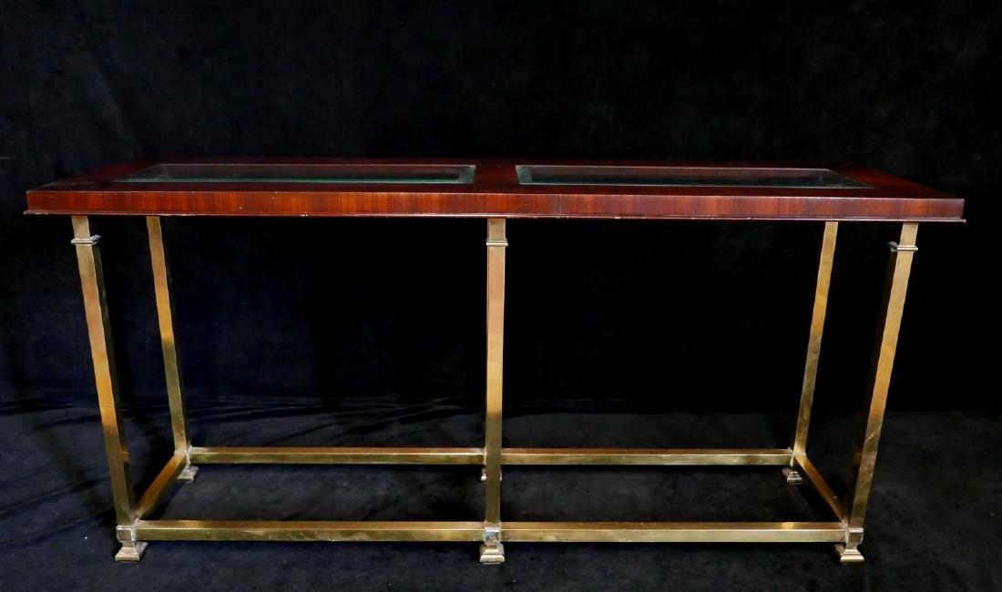 MACASSAR & BRASS SOFA TABLE - 2