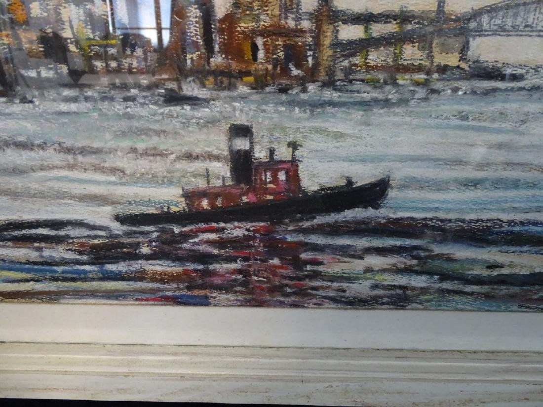 W. PETTIPAS SGN. MIXED MEDIA HARBOR VIEW - 2