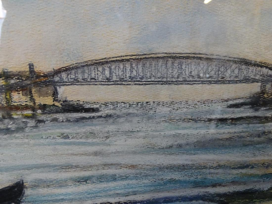 W. PETTIPAS SGN. MIXED MEDIA HARBOR VIEW - 3
