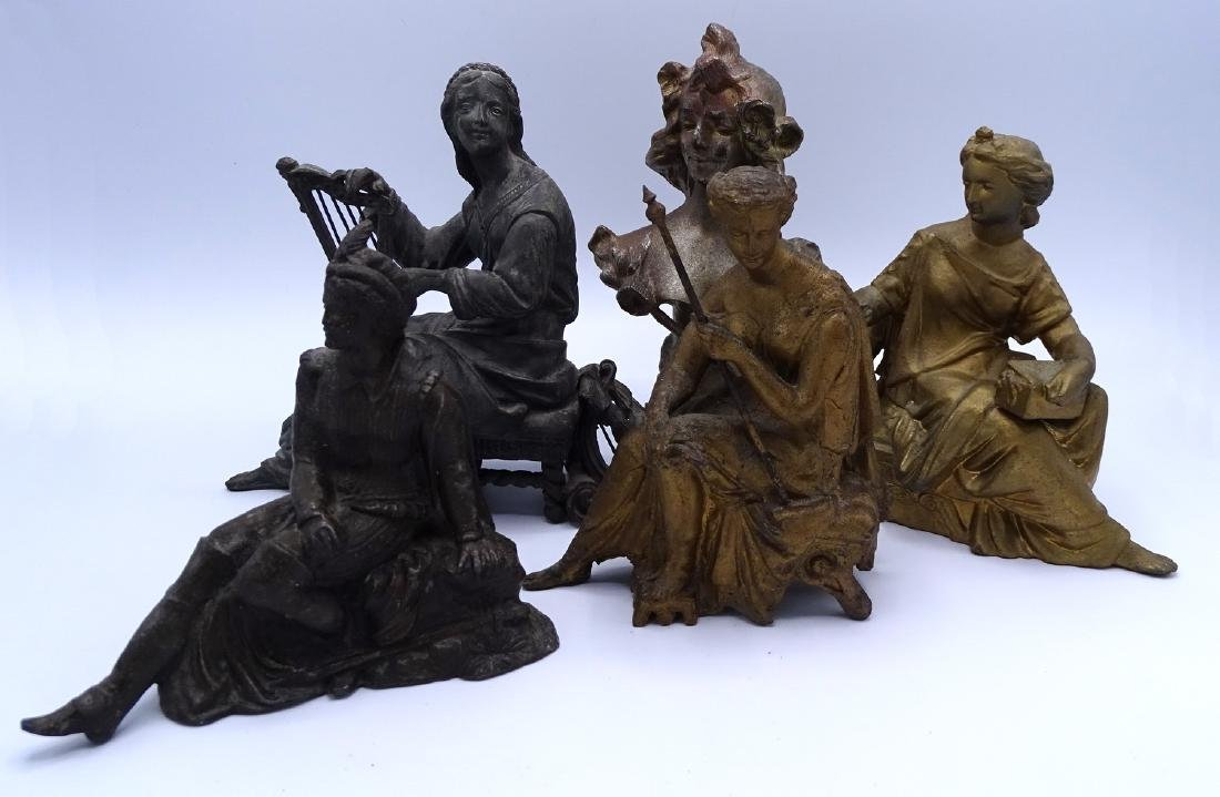 FIVE FIGURAL CLOCK TOPPERS
