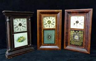 3 SHELF CLOCKS WITH REVERSE PAINTED TABLETS INC. (1)