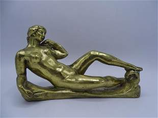 AFTER A. MAILLOT BRONZE RECLINING NUDE