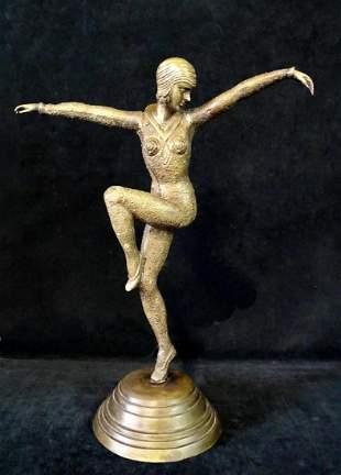ART DECO STYLE BRONZE DANCER