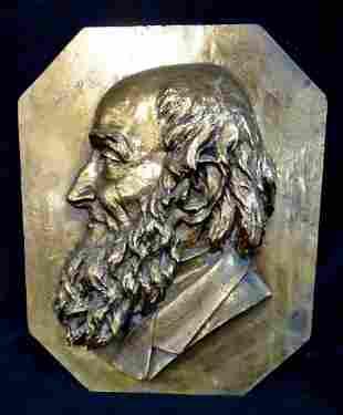 1883 BRONZE PLAQUE PORTRAIT J.G.C. HAMILTON