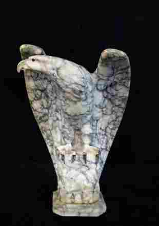 MARBLE EAGLE WITH GLASS EYES