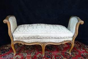LOUIS XV STYLE UPHOLSTERED WINDOW BENCH