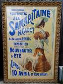 FRENCH ADVERTISING POSTER SAMARITAINE NOUVEAUTES D