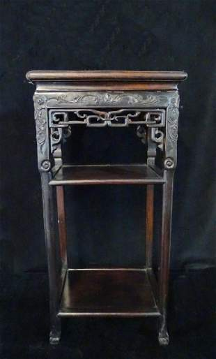 ORIENTAL CARVED WOOD STAND