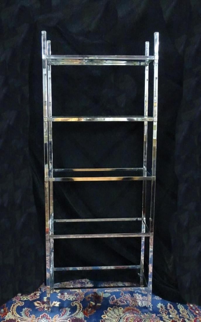 Cool Chrome Etagere With Glass Shelves Home Remodeling Inspirations Basidirectenergyitoicom