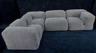 4 PC. UPHOLSTERED SECTIONAL CASSINA MADE IN ITALY -