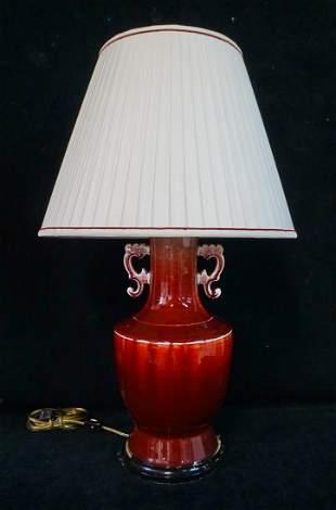 CHINESE SANG DE BOEUF LAMP