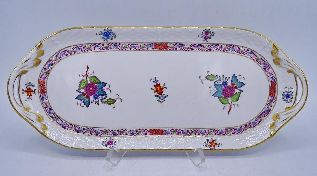 HEREND PORCELAIN 2 HANDLE TRAY