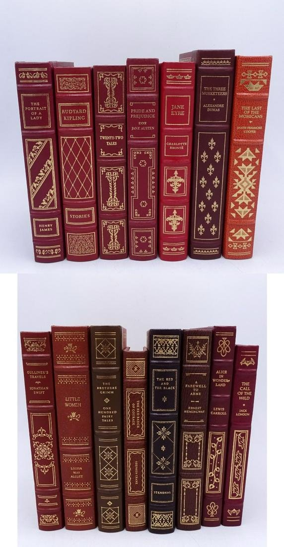 15 RED LEATHER BOUND FRANKLIN LIBRARY CLASSICS C.