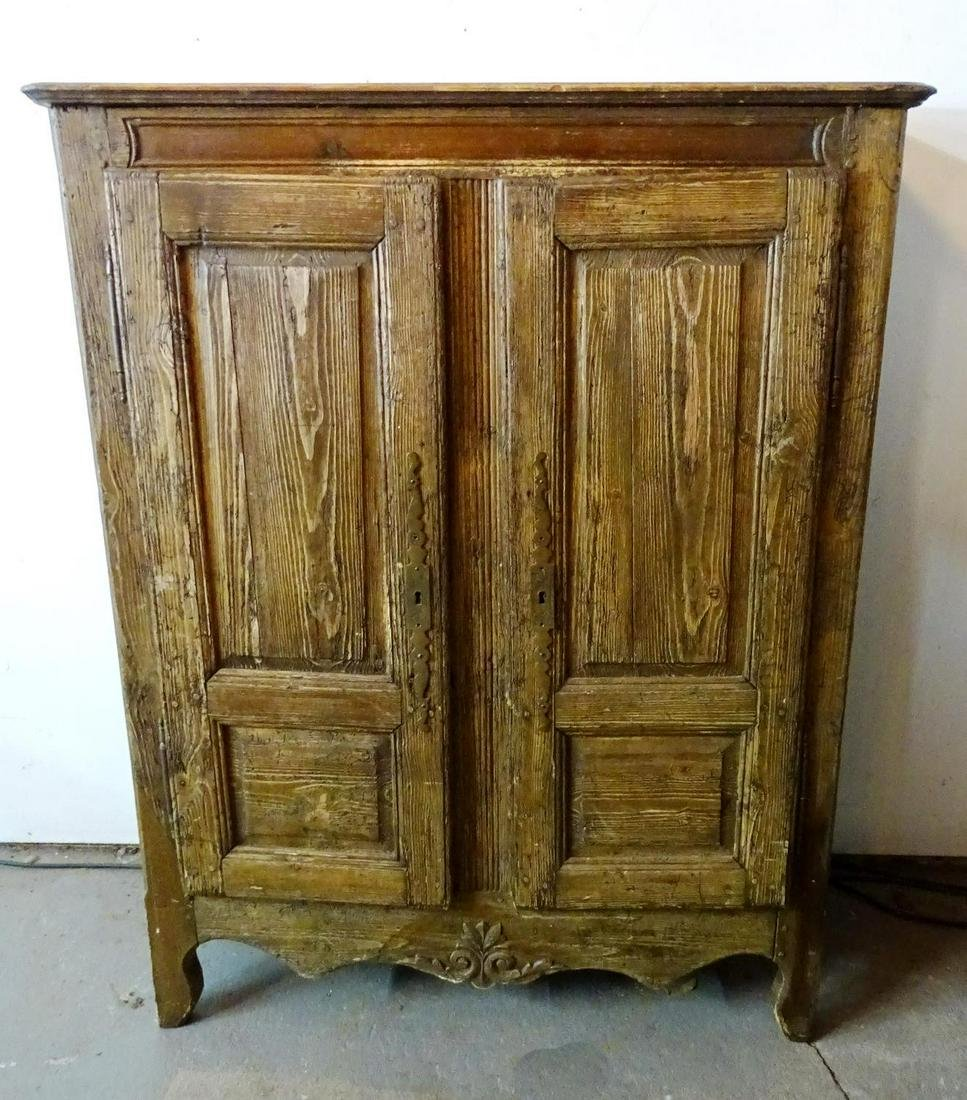 19TH C. FRENCH 2 DOOR OAK CABINET