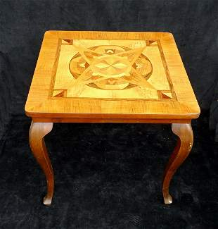 INLAID OCCASIONAL TABLE 22H 24W 24D
