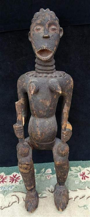 LARGE AFRICAN TRIBAL FIGURE SOME LOSSES 46H