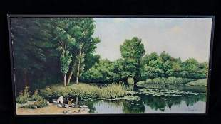 OIL ON CANVAS IMPRESSIONIST STYLE LANDSCAPESGN