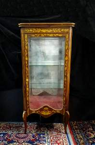 LOUIS XVI STYLE  BRONZE MOUNTED MARQUETRY INLAID