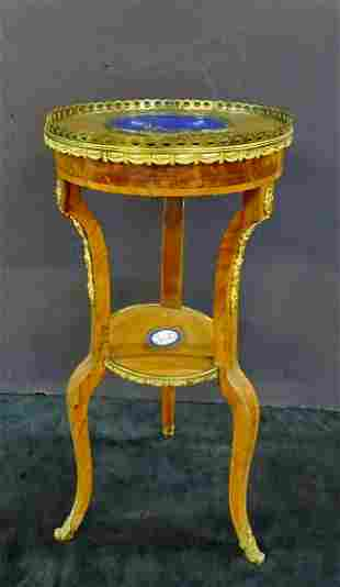 LOUIS  XV STYLE  BRONZE MOUNTED STAND W/SEVRES STYLE