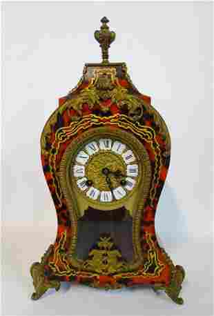 BRONZE MOUNTED BOULLE INLAID MANTLE CLOCK