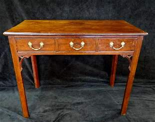 "18TH C. CHIPPENDALE STYLE MAHOGANY WRITING TABLE 28""H"