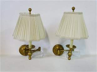 "PR. BRASS ADJUSTABLE WALL SCONCES 11""H"