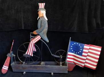 GERRY HOLZMAN SGN. 6FT HIGH MECHANICAL UNCLE SAM EMPIRE