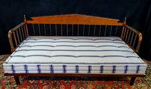 """JENNY LIND STYLE DAYBED WITH MATTRESS 31""""H 70""""L 41""""D"""