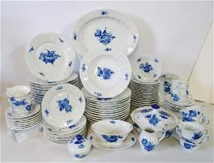 ROYAL COPENHAGEN BLUE & WHITE 82 PC. DINNERWARE SET
