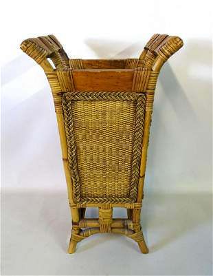 "RATTAN UMBRELLA STAND (CHIP TO EAR)  22""H 14""W 11""D"