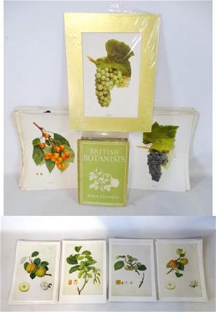 """LOT UNFRAMED BOTANICAL PRINTS 11.5X8"""" (SOME AS IS)"""