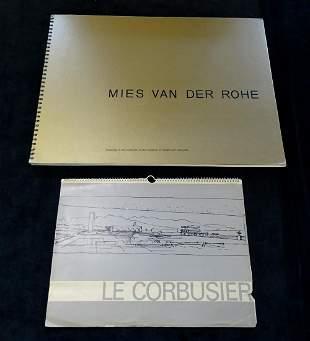 MIES VAN DER ROHE DRAWINGS MOMA & LE CORBUSIER CALENDAR