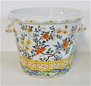 HAND PAINTED FRENCH PORCELAIN PLANTER FOR TIFFANY & CO.