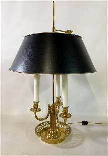 BRONZE BOUILLOTE LAMP W/ TOLE SHADE